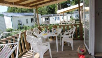 camping étang gérande mobil home 6-8 personnes PMR personnes à mobilité réduite