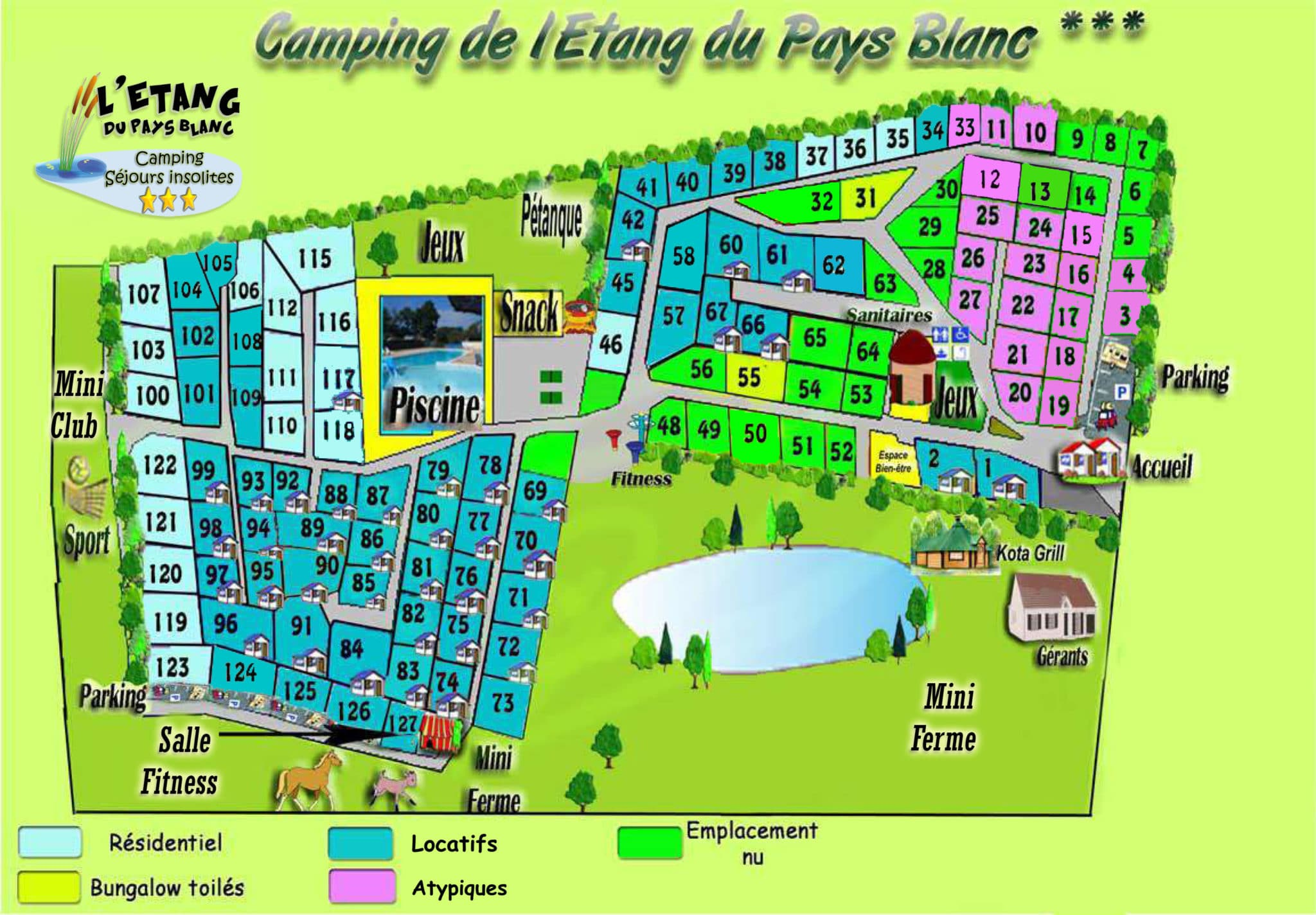 PLAN camping de l etang 2021